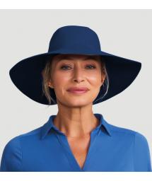 Шляпа темно-синего цветас широким клапаном и местом для волос - SAN DIEGO MARINHO - SOLAR PROTECTION UV.LINE