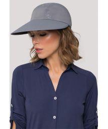 Graue Damenmütze mit blauem Logo - VISEIRA CAPRI COLORS CHUMBO/PRETO - SOLAR PROTECTION UV.LINE