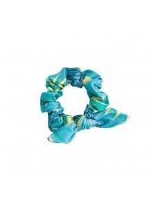 FLOWER GEOMETRIC SCRUNCHIE