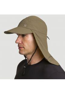 Cappello verde militare con protezione collo SPF50 - BONÉ LEGIONÁRIO KAKI - SOLAR PROTECTION UV.LINE