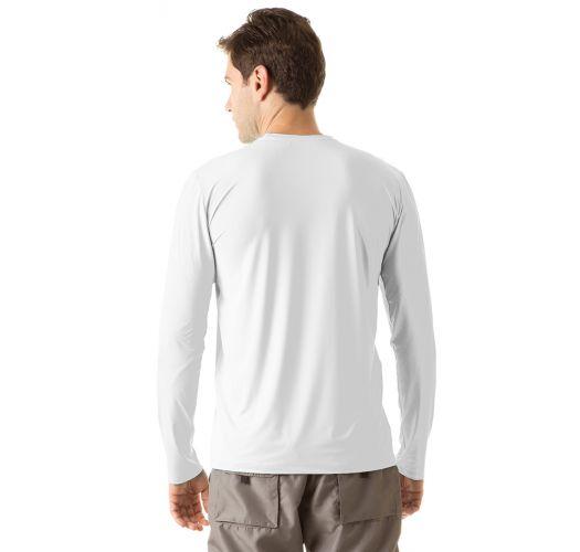 White long sleeve for men - UPF50 - CAMISETA UVPRO BRANCO - SOLAR PROTECTION UV.LINE