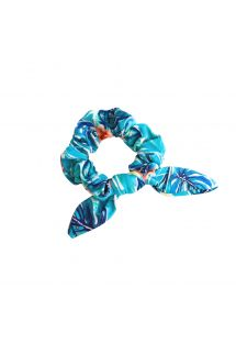 Floral blue scrunchie - ISLA SCRUNCHIE