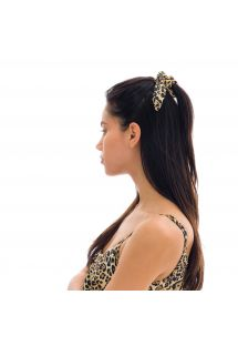Leopard print hair scrunchie - LEOPARDO SCRUNCHIE