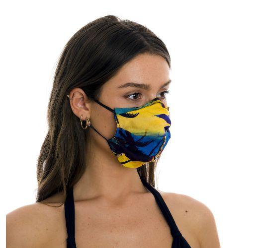 Reusable 3-ply tropical print fabric mask - FACE MASK BBS31