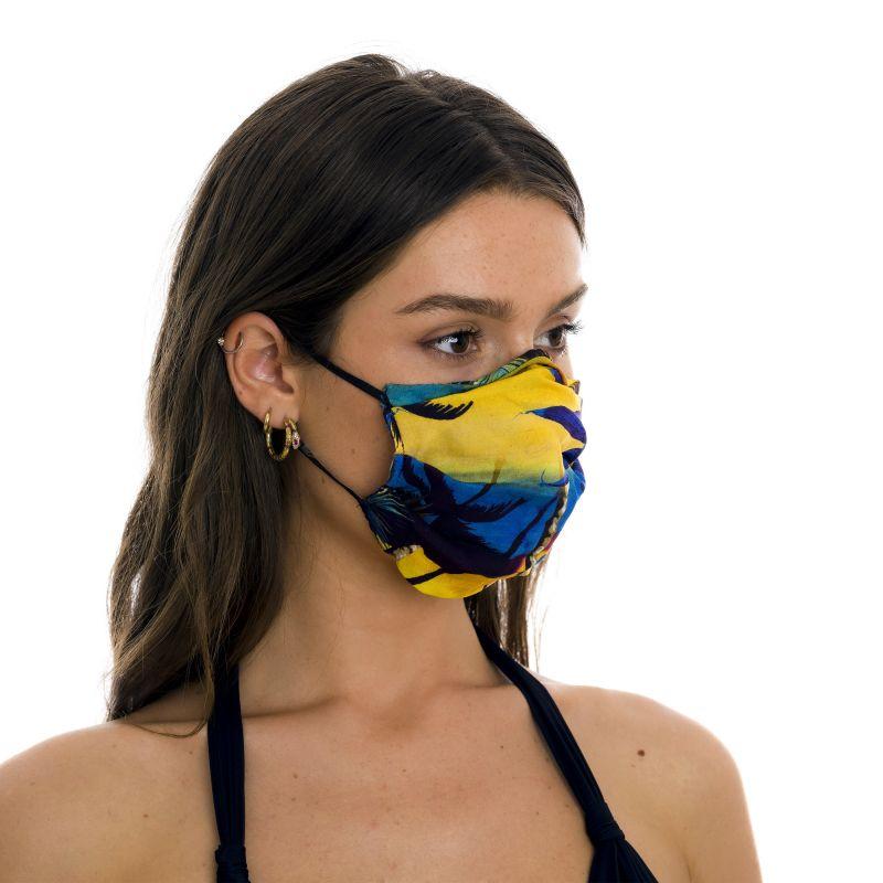Masque tissu réutilisable 3 plis imprimé tropical - FACE MASK BBS31