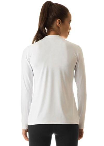 White long sleeve for women - UPF50 - CAMISETA UVPRO BRANCO FEM - SOLAR PROTECTION UV.LINE