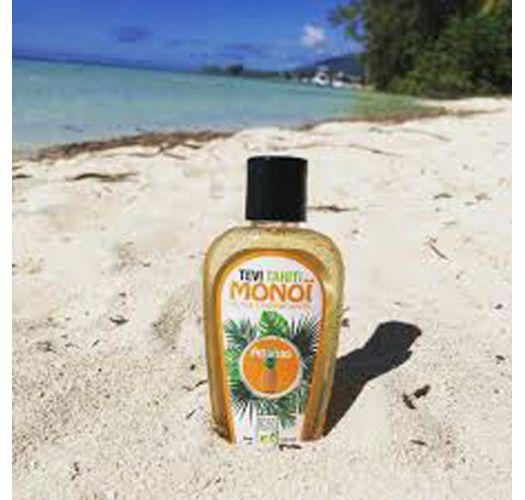 Таитянское парфюмероное масло монои с ароматом ананаса в флаконе с рельефным узором - MONOI GOURMAND ANANAS 120ML