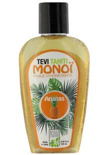 Pineapple scented Tahiti monoi in tattooed bottle - MONOI GOURMAND ANANAS 125ML