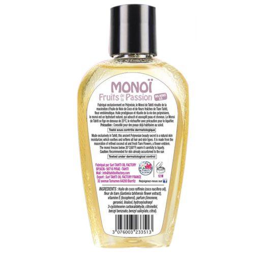 Моной де Таити, таитянское масло моной с ароматом маракуйи, флакон с