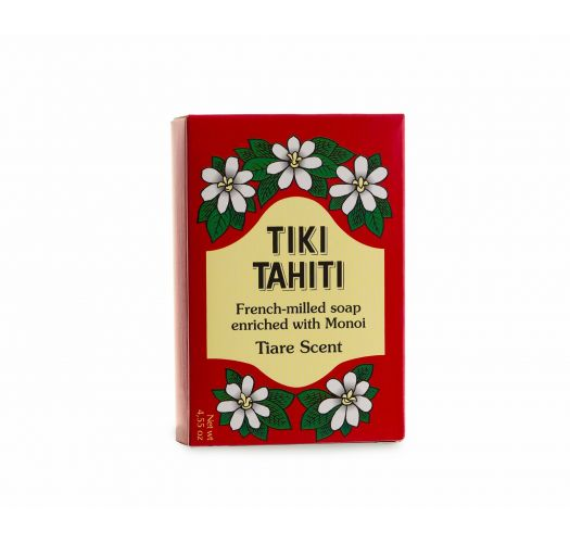 Rastlinné mydlo s 30% tradičným tahitským olejom s výťažkom z kvetu tiaré - TIKI SAVON TIARE TAHITI TIARE 130g