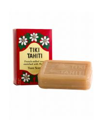 Savon végétal avec 30% de monoï de Tahiti, senteur tiaré - TIKI SAVON TIARE TAHITI TIARE 130g