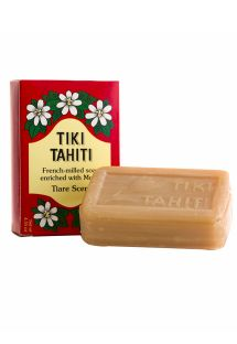 Jabón vegetal con 30 % de monoi de Tahití, olor a tiaré - TIKI SAVON TIARE TAHITI TIARE 130g