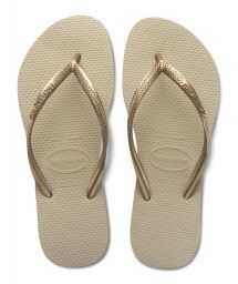 Slippers - Slim Sand Grey/Light Golden