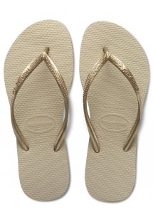 Flip-Flops - Slim Sand Grey/Light Golden