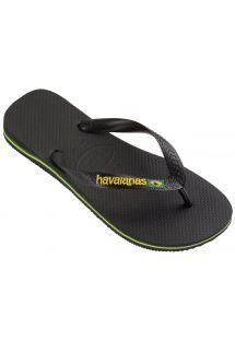 Flip-Flops - Brasil Logo Black