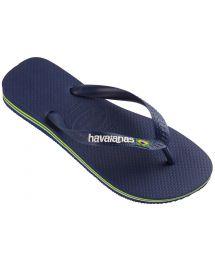 Sandaler - BRASIL LOGO NAVY BLUE