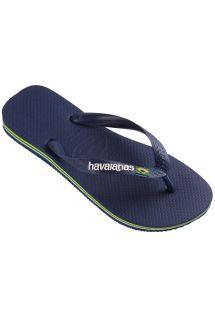 รองเท้าแตะ - BRASIL LOGO NAVY BLUE