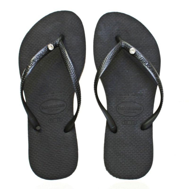 Flip-Flops - Slim Crystal Glamour Sw Black