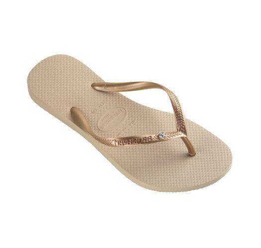 Flip-Flops - Slim Crystal Glamour Sw Sand Grey