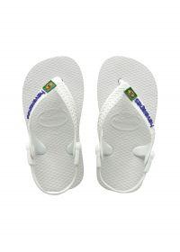 Flip-Flops - Baby Brasil Logo White/White