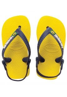 Chinelos - Baby Brasil Logo Citrus Yellow