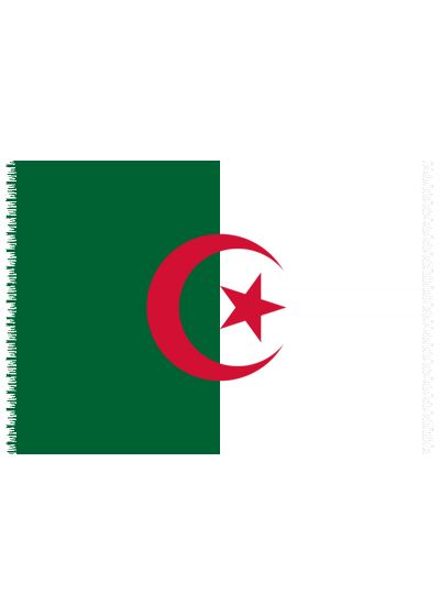 Brazilian beach towel - National flag Algeria