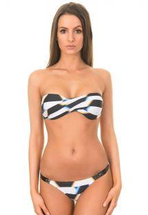 Bikini con bandeau - NEW BANDEAU LEATHER BIKINI AFRICA PALAIS