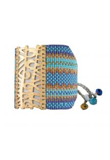 SAFARI BLUE TURQUOISE GOLD