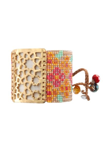 Armband STAR FLOWER CHAMPAGNE YELLOW CORAL