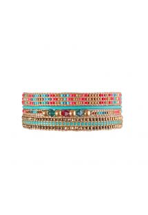 Armband POTPOURRI TURQUOISE GOLD CORAL