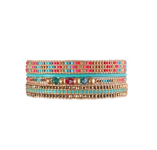 Bracelet POTPOURRI TURQUOISE GOLD CORAL