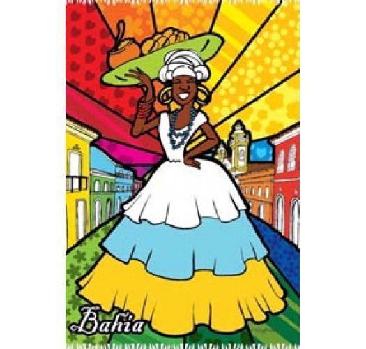 Farvestrålende pareo i Bahiana-stil CANGA BAIANA PELO