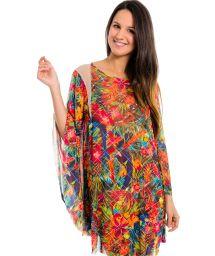 Multicoloured kaftan with transparent inserts - Kaftan Desejo