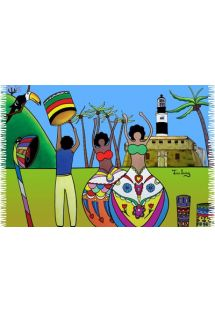 Brazilian beach towel - CANGA BAHIA TOUR