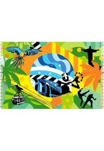 Brazilian beach towel - CANGA BRASIL POP