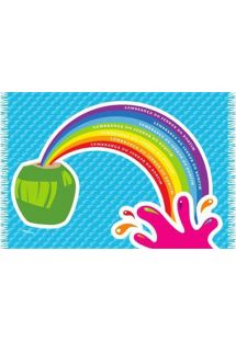 Paréo fun, motif noix de coco/arc-en-ciel - CANGA COCONUT CARTOON