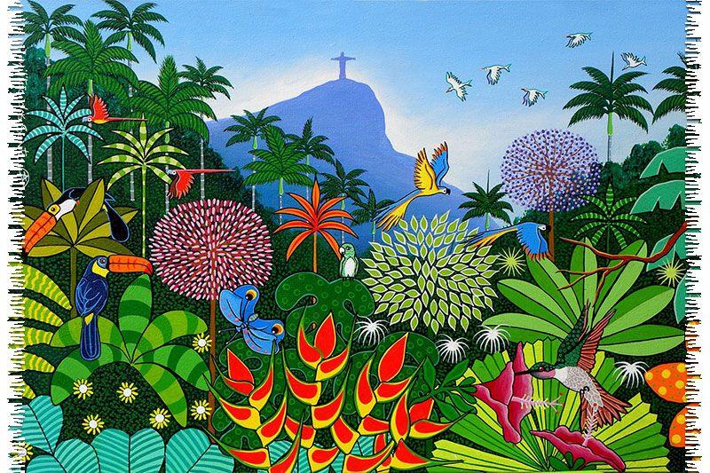 Enjoy one of Bali Blue`s charming creations with this colourful and exotic sarong. - CANGA JARDIM BOTANICO NAIF