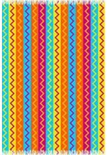 Pareo with multi-coloured zigzag stripes� - CANGA MISSONI