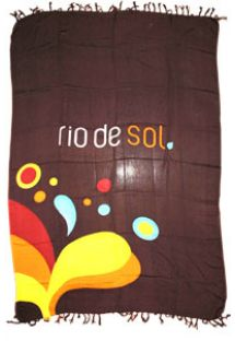 Brazilian beach towel - Canga RiodeSol Brown