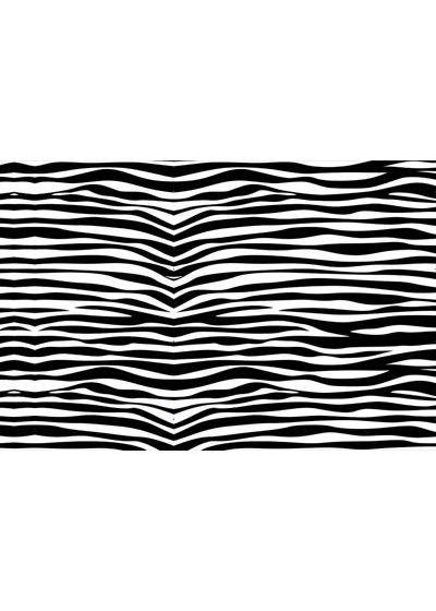 Black and white striped pareo - CANGA ZEBRA