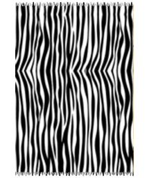 Black and white striped pareo - CANGA ZEBRA