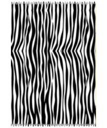 Svart och vit zebramönstrad pareo CANGA ZEBRA