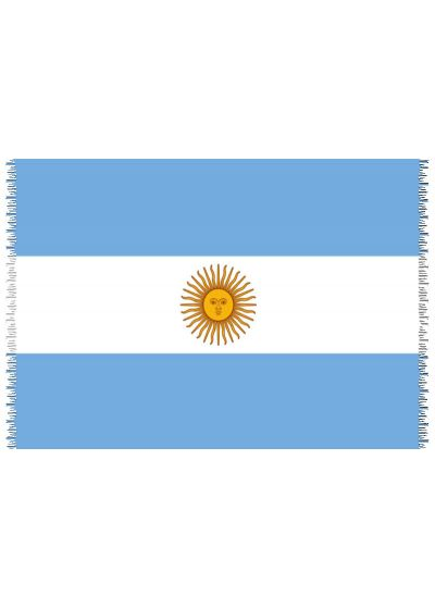 Pareo, Strandhandduk Nationsflagga Argentina