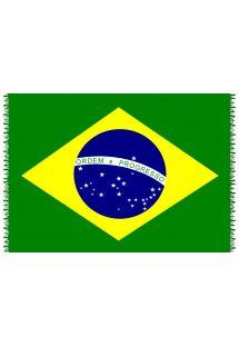 Paréo mit Fransen, Nationalflagge Brasilien - CANGA BRASIL