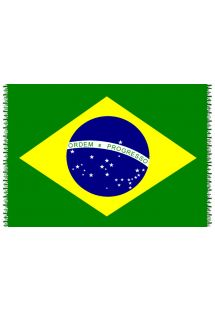 Paréo frangé drapeau national Brésil - CANGA BRASIL