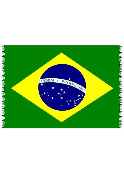 Fringed pareo with the Brazil national flag - CANGA BRASIL