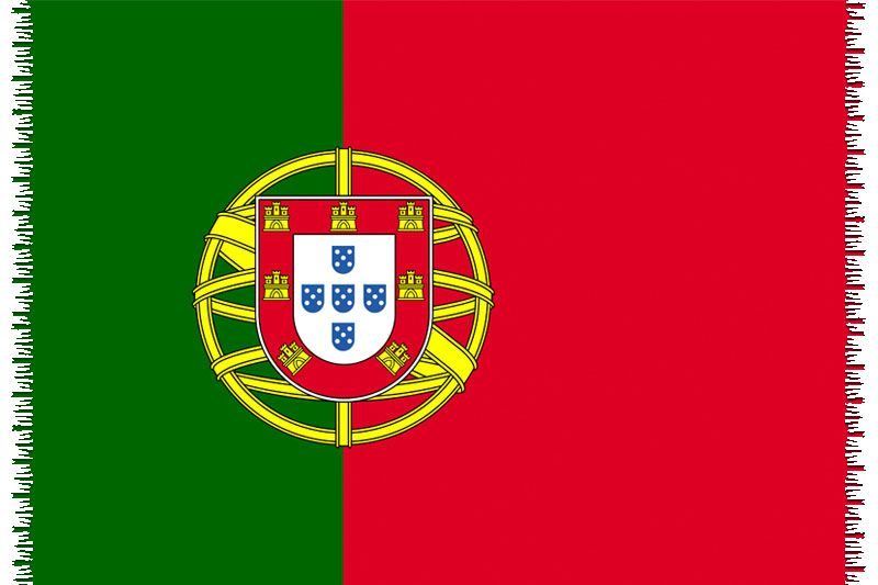 Brazilian beach towel - National flag Portugal