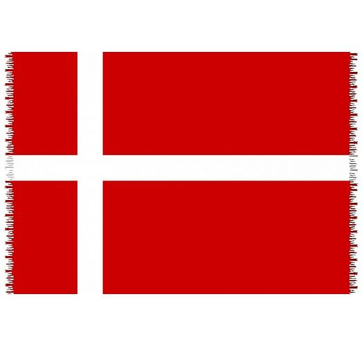 Brazilian beach towel - National flag Denmark