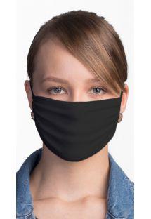 Ansigtsmaske i hvid tekstil der kan justeres og genanvendes - FACE MASK BBS02