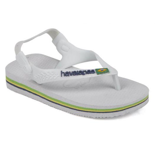 Klapki - Baby Brasil Logo White/White